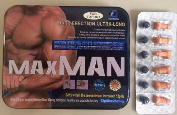 maxman hard erection ultra long 260mg